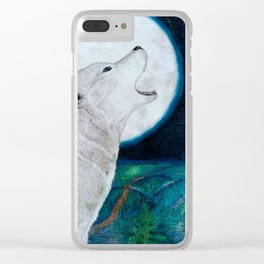 Solace of the Moon Clear iPhone Case