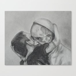 Pope Francis - Showing Us How To Love 2 Canvas Print