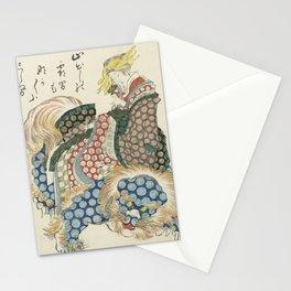 Courtisane riding on a shishi Stationery Cards