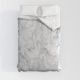 Vintage elegant navy blue white stylish marble Comforters