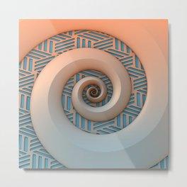 Miami Spiral Metal Print