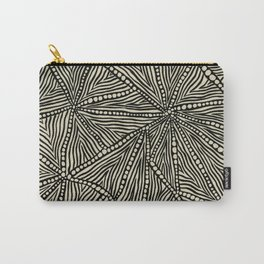 Black and Ivory Triangles Carry-All Pouch
