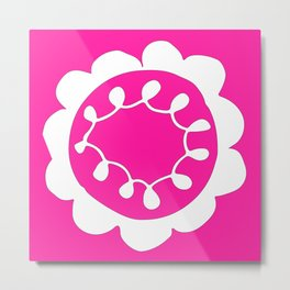 Raspberry Flower Metal Print