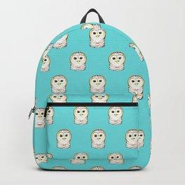 Cute Little Owls Pattern Teal Backpack