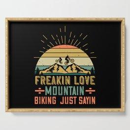 MTB - Freakin Love Mountain Biking Serving Tray