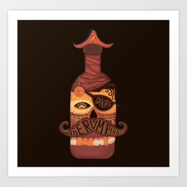 The Rum Pirate Art Print