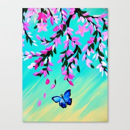 Butterfly Vertical Print Canvas Print