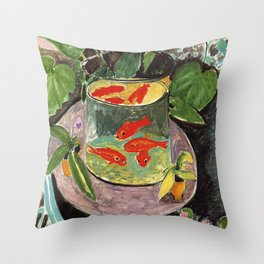Henri Matisse Goldfish 1911, Goldfishes Artwork, Men, Women, Youth Throw Pillow