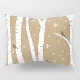 Birch Forest - Winter Idyll Pillow Sham
