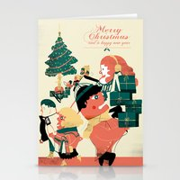 postcard Stationery Cards featuring CHRISTMAS POSTCARD by Eleonora