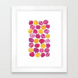 Spring Beet pattern Framed Art Print