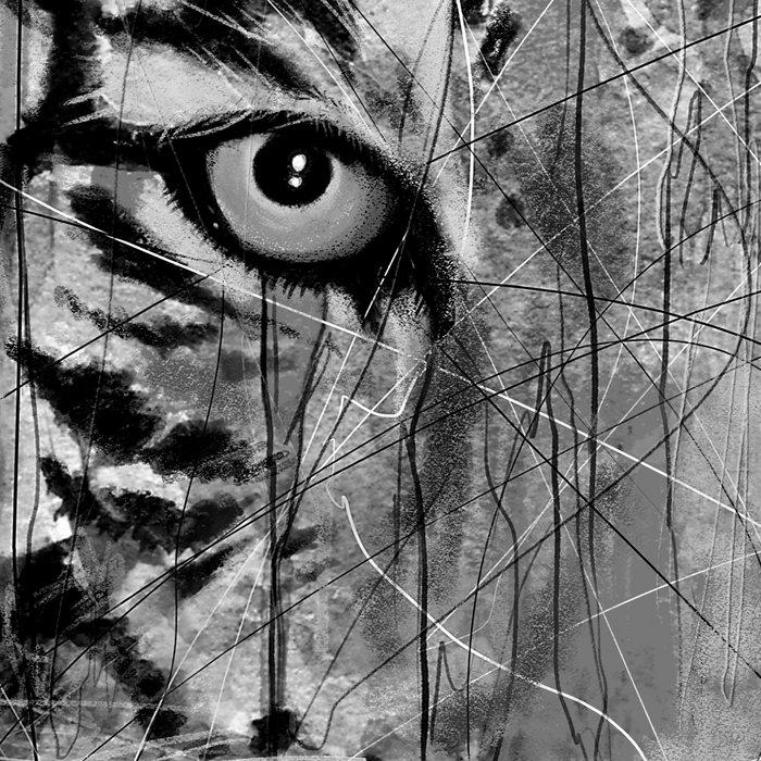 Tiger Black & White Leggings