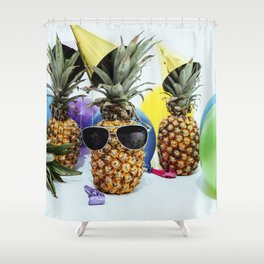 Pineapple Party Time Shower Curtain