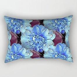 Blue Camelias Rectangular Pillow