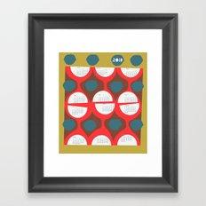 2013 retro calendar Framed Art Print
