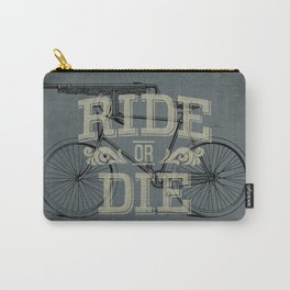 Ride Or Die Bicycle Print Carry-All Pouch