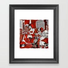 Scootin' Red Remix Framed Art Print