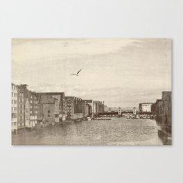A postcard from Trondheim Canvas Print