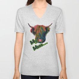 Cow Moo Unisex V-Neck