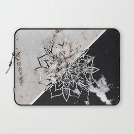 Yin Yang Mandala on Marble #1 #decor #art #society6 Laptop Sleeve