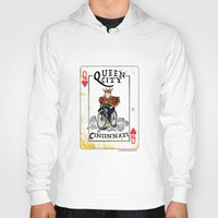 cincinnati Hoodies featuring Queen of Cincinnati Bike Print by Jeni Jenkins | Uncaged Bird Studio