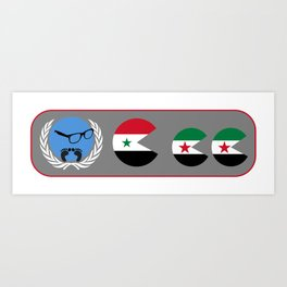 United Nations is watching Syria Art Print