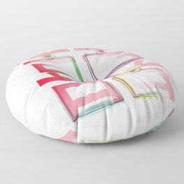 NO.5 DOUBLE HAPPINESS IN RED Floor Pillow