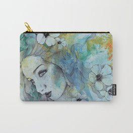 The Lowest Common Denominator (flower lady portrait drawing) Carry-All Pouch