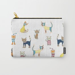 Cats in sweaters Carry-All Pouch