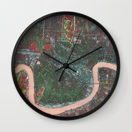 A Map of Vibrant New Orleans Wall Clock