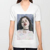 sky ferreira V-neck T-shirts featuring Sky Ferreira II by Jethro Lacson