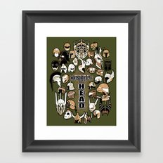 Helmets of fandom - respect the head! Framed Art Print