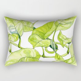 Devils Ivy Illustration Rectangular Pillow