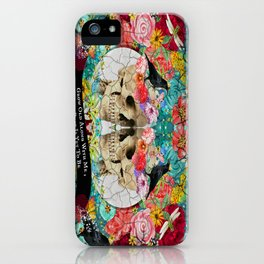 Roses Sugar Skull Couple, Always Kiss Me Goodnight iPhone Case