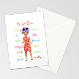 Angryocto - Sara's Candy Stationery Cards