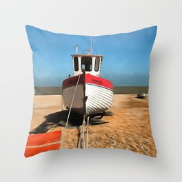 Dungeness Fishing Boat Throw Pillow