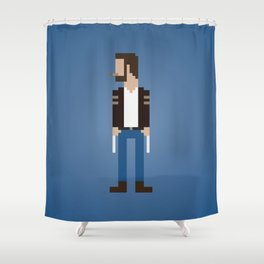 The Man With Metal Claws Shower Curtain