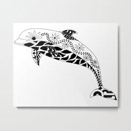 Delfín hasta el fin, Ecopet Metal Print