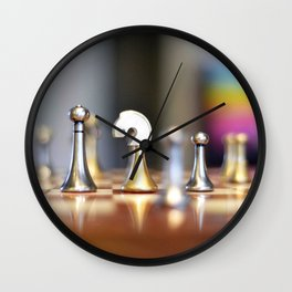 Chessmen Wall Clock