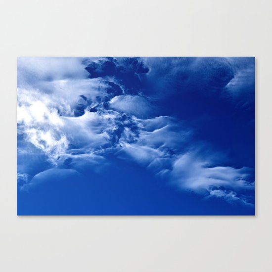 Dark blue sky Canvas Print