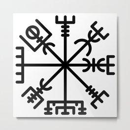 Vegvisir Metal Print