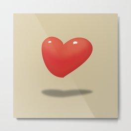 Floating Hearts, Heart Balloons Metal Print