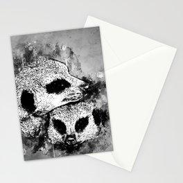 meerkat suricate mongoose wsbw Stationery Cards