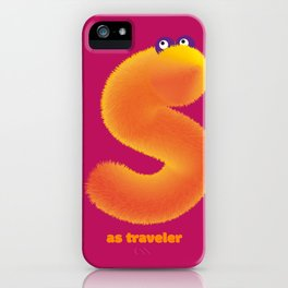 Alphabet monsters : S as traveler iPhone Case
