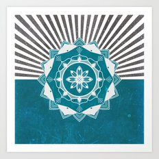 Don't Mess With Your Rising Sun (Teal) Art Print