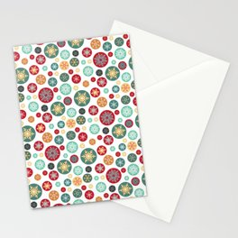 Retro Snowflake Christmas Ornaments Stationery Cards