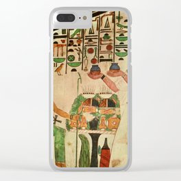 Ancient - Egyptian Wall Paintings 1956, Tomb of Queen Nefertari Clear iPhone Case
