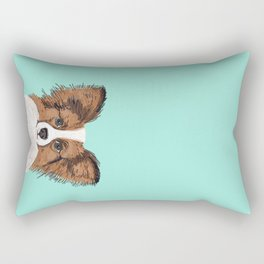 Papillon cute dog fluffy puppy funny valentine love pet gift for dog person with papillon dog Rectangular Pillow