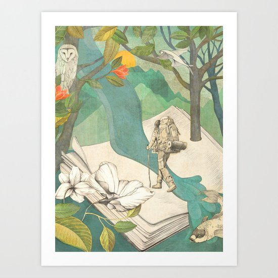 Nature Writing Art Print