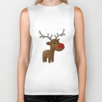 reindeer Biker Tanks featuring Reindeer by Iotara